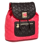 Betsey Johnson Will You Be Mine Backpack-Pink
