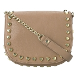 Betsey Johnson Heart Attack Crossbody Bag-Tan
