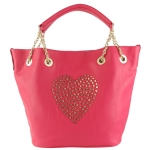 Betsey Johnson Heart Attack Tote-Pink