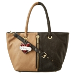 Betsey Johnson On the Flipside Tote- Tan/Black