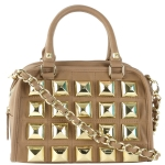 Betsey Johnson Studio 54 Mini Satchel Bag- Tan