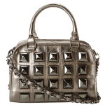 Betsey Johnson Studio 54 Mini Satchel Bag - Gunmetal