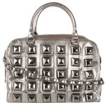 Betsey Johnson Studio 54 Satchel Bag-Gunmetal