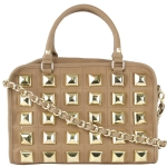 Betsey Johnson Studio 54 Satchel Bag-Tan
