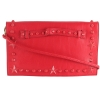 Betsey Johnson Total Tonal Clutch Bag - Red