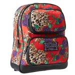Betsey Johnson Rosey Mix Up Backpack -Red