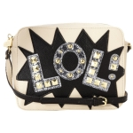 Betsey Johnson TTYL Crossbody Bag-White