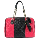 Betsey Johnson Be My Wonderful Satchel-Fuschia