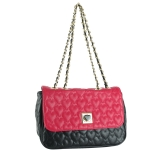 Betsey Johnson Be My Wonderful Flapover Shoulder Bag- Fuchsia