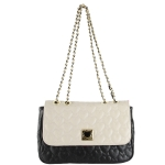 Betsey Johnson Be My Wonderful Flapover Shoulder Bag- Marshmellow