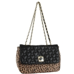 Betsey Johnson Be My Wonderful Flapover Shoulder Bag- Leopard