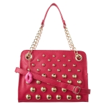 Betsey Johnson Great Balls of Fire Satchel Bag-Fuschia