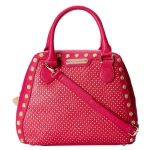 Betsey Johnson Tuxedo Junction Bowler Satchel- Berry