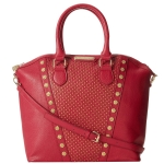 Betsey Johnson Tuxedo Junction Tote- Berry