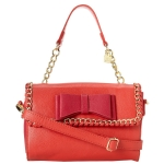 Betsey Johnson Tough Love Mini Satchel-Pink/Red