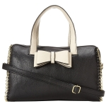 Betsey Johnson Tough Love Satchel-Black