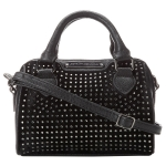 Betsey Johnson Mini Crystal Palace Satchel Crossbody Bag- Black