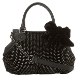 Betsey Johnson Crystal Palace Satchel-Black