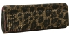 Betsey Johnson Sequin Foldover Clutch Bag - Gold Leopard