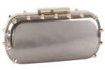 Betsey Johnson Spiked Clutch- Pewter
