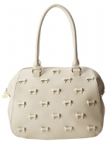 Betsey Johnson Little Bow Chic Satchel Bag-Cream