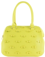 Betsey Johnson Little Bow Chic Satchel Bag-Citron