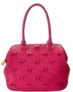 Betsey Johnson Little Bow Chic Satchel Bag-Fuchsia