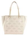 Betsey Johnson Little Bow Chic Tote Bag-Cream