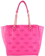 Betsey Johnson Little Bow Chic Tote Bag-Fuchsia