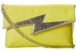Betsey Johnson Bright Lights Clutch Bag - Citron
