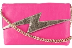 Betsey Johnson Bright Lights Clutch Bag - Fuchsia