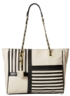 Betsey Johnson Nod To Mod Tote Bag - Black/Cream
