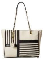 Betsey Johnson Not To ModTote Bag-Black/Cream