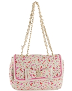 Betsey Johnson Be My Honey Buns Flapover Satchel Bag-Cream Multi