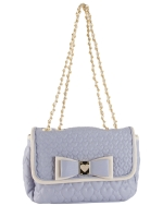 Betsey Johnson Be My Honey Buns Flapover Satchel Bag-Periwinkle