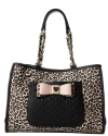 Betsey Johnson Be My Honey Buns Tote-Leopard
