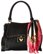 Betsey Johnson Wrap Party Satchel-Black