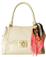 Betsey Johnson Wrap Party Satchel-Cream