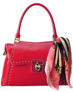 Betsey Johnson Wrap Party Satchel-Fuchsia