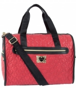 Betsey Johnson Quilted heart Weekender Bag - Red