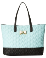Betsey Johnson Be My Bow Tote - Minty Blue