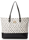 Betsey Johnson Kiss Marks the Spot Tote - Cream