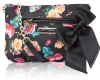 Betsey Johnson Neverland Floral Rouched Crossbody Bag - Black