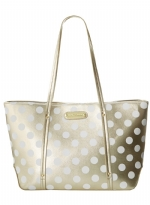 Betsey Johnson Hocus Polkas Small Tote - Gold