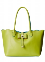 Betsey Johnson Extra Baggage Tote/ Crossbody Bag - Lime