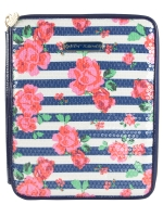 Betsey Johnson Rosie Garden E Reader Case- Blue Striped