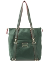 Big Buddha Luke Nylon Convertible Shoppers Tote/Backpack - Forest