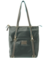 Big Buddha Luke Nylon Convertible Shoppers Tote/Backpack - Grey