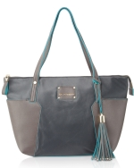 Big Buddha Tessa Nylon Shoppers Tote - Grey