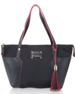 Big Buddha Tessa Nylon Shoppers Tote - Black